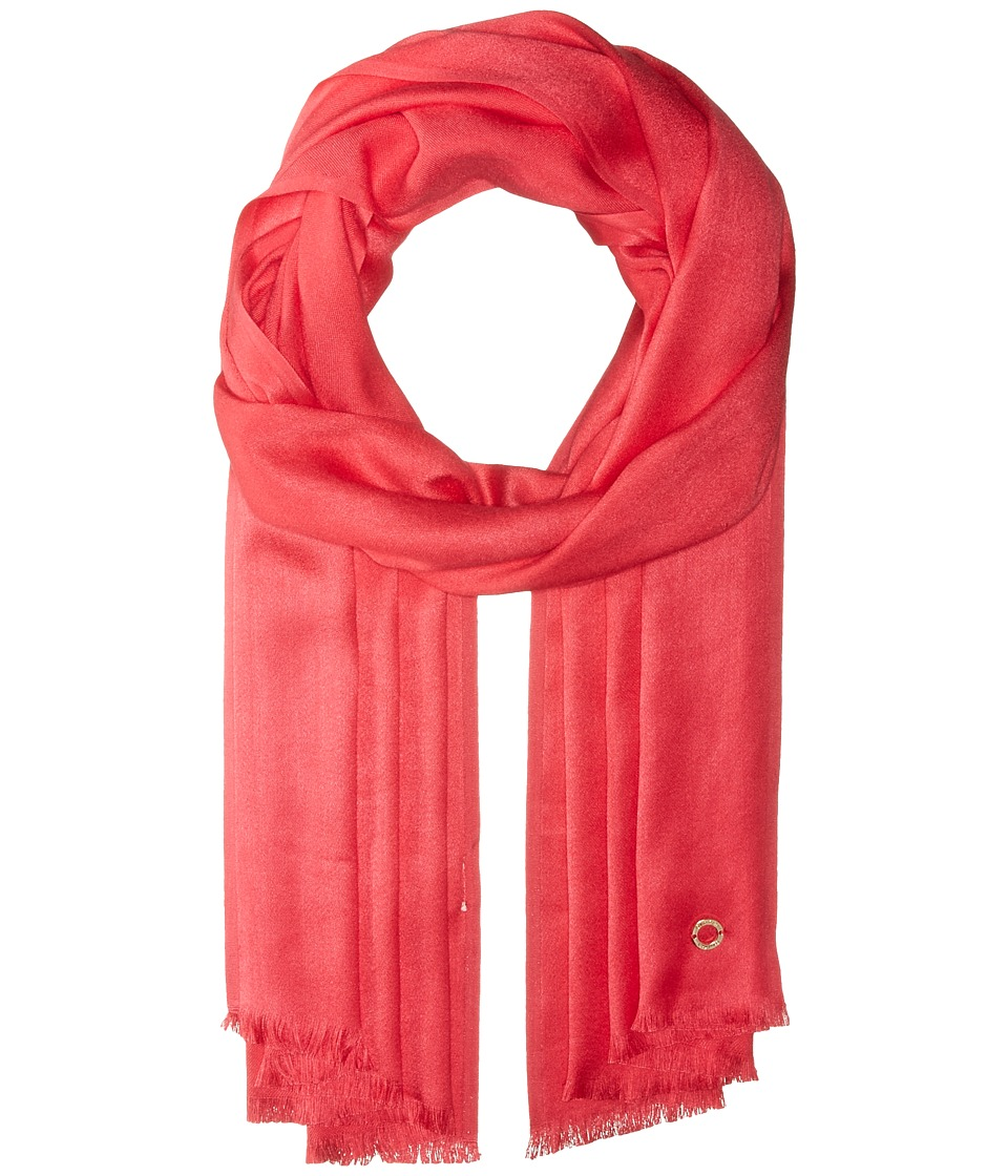 Calvin Klein - Solid Satin Finish Pashmina (Watermelon) Scarves