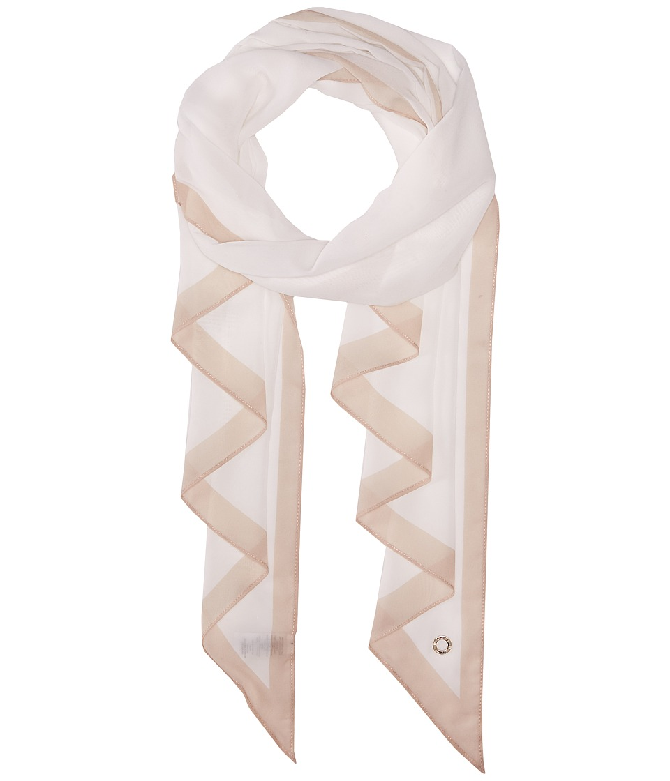 Calvin Klein - Angled Edge with Border (Eggshell) Scarves