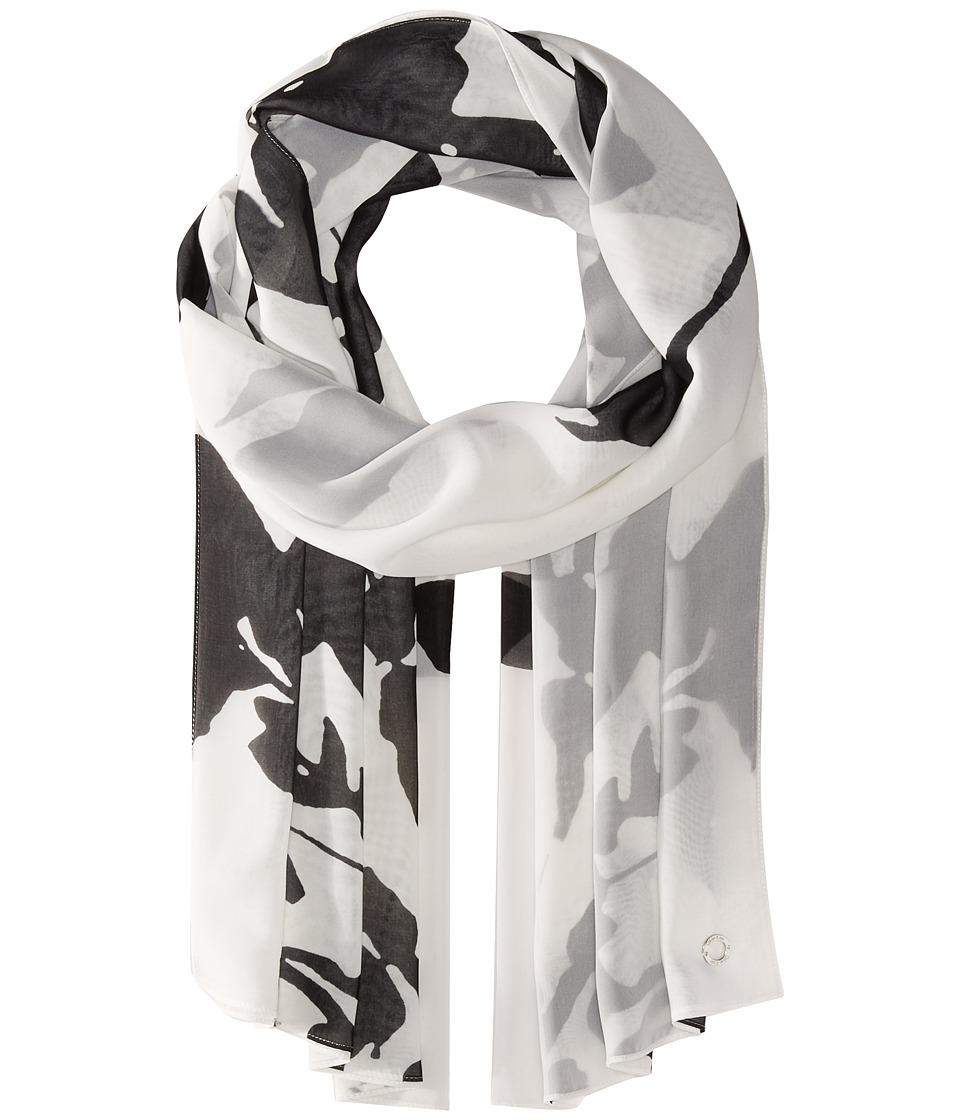 Calvin Klein - Floral Print (Black) Scarves
