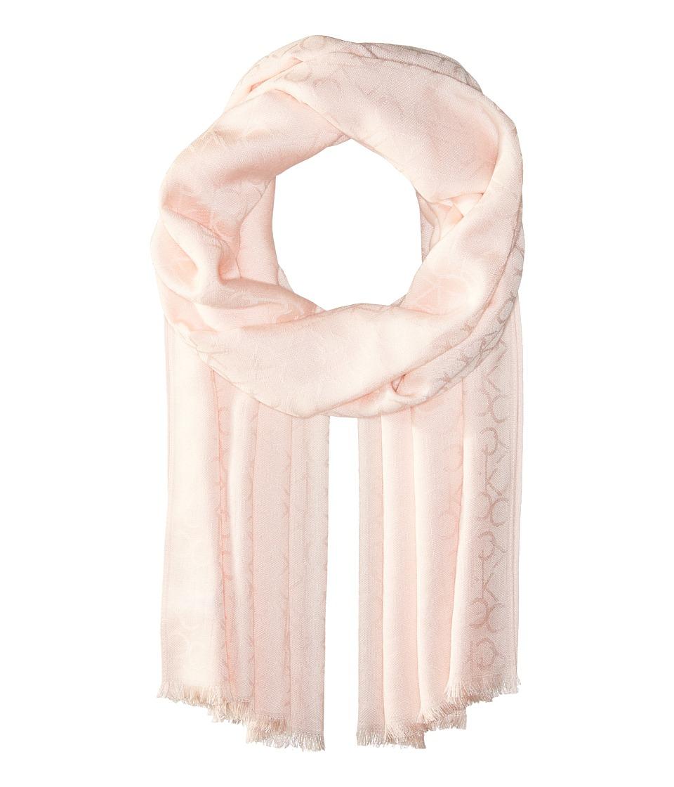 Calvin Klein - CK Logo Pashmina (Blossom) Scarves