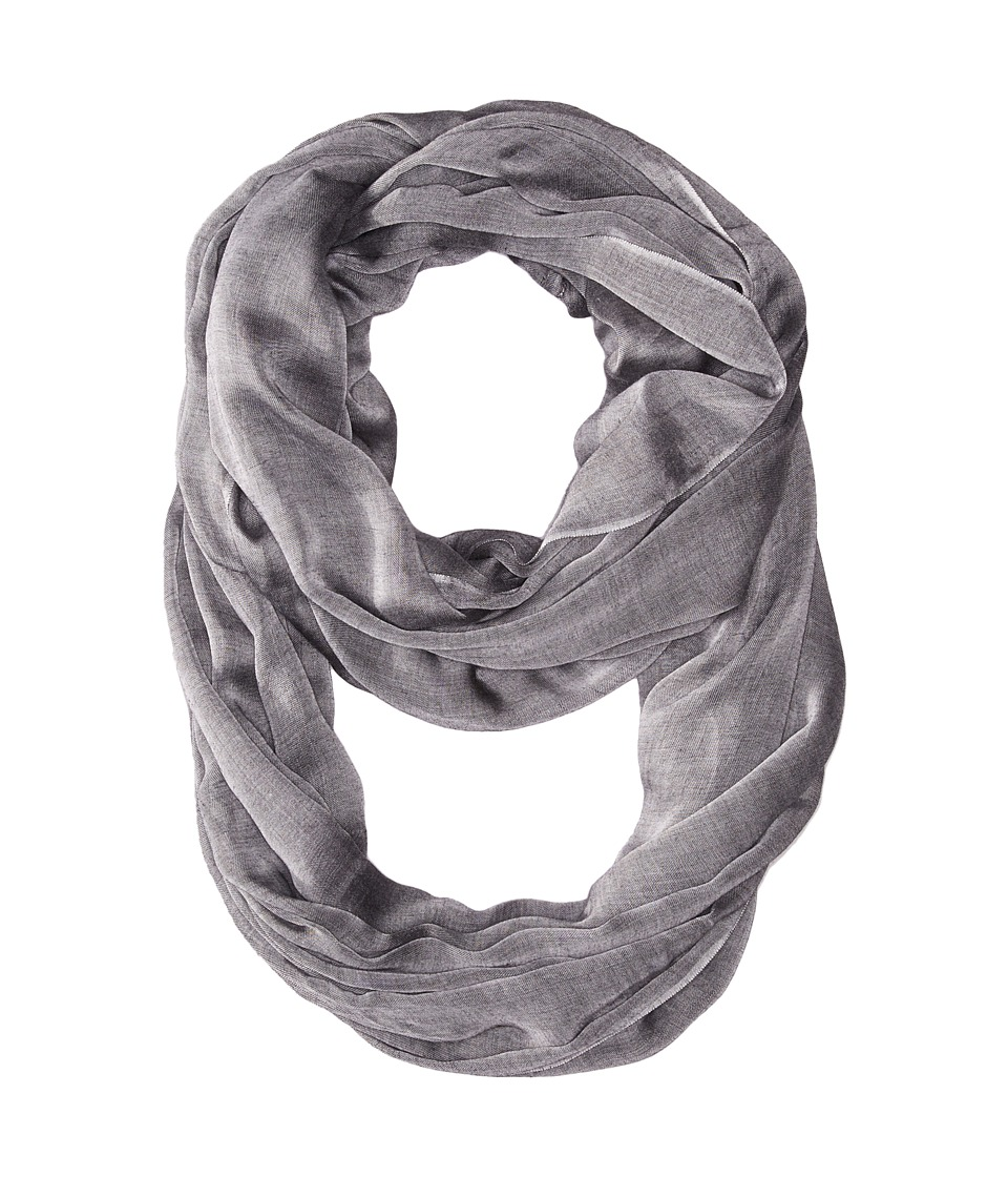 Calvin Klein - Solid Chambray Infinity (Black) Scarves