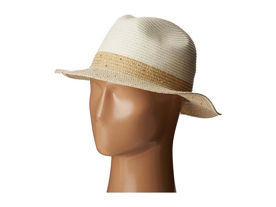 Calvin Klein - Sequin Band Fedora (Ivy) Fedora Hats