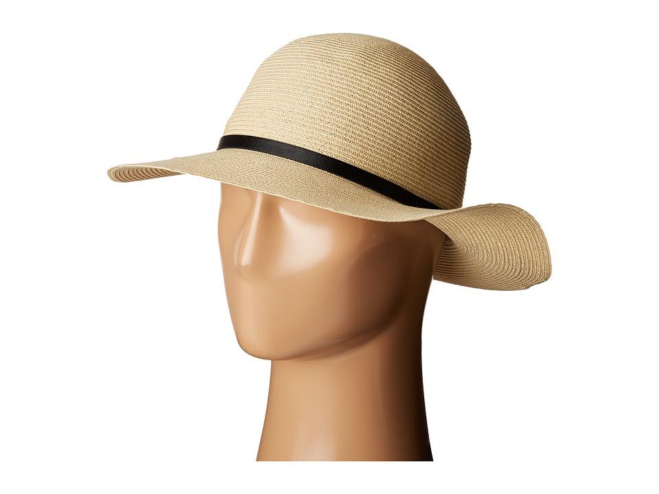 Calvin Klein - Fine Weave Sun Hat (Natural) Caps