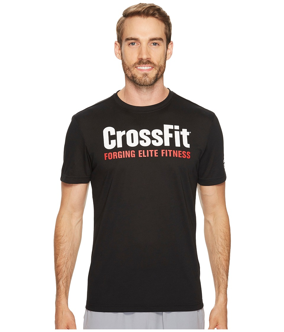 Reebok - CrossFit Forging Elite Fitness Tee (Black) Men's T Shirt
