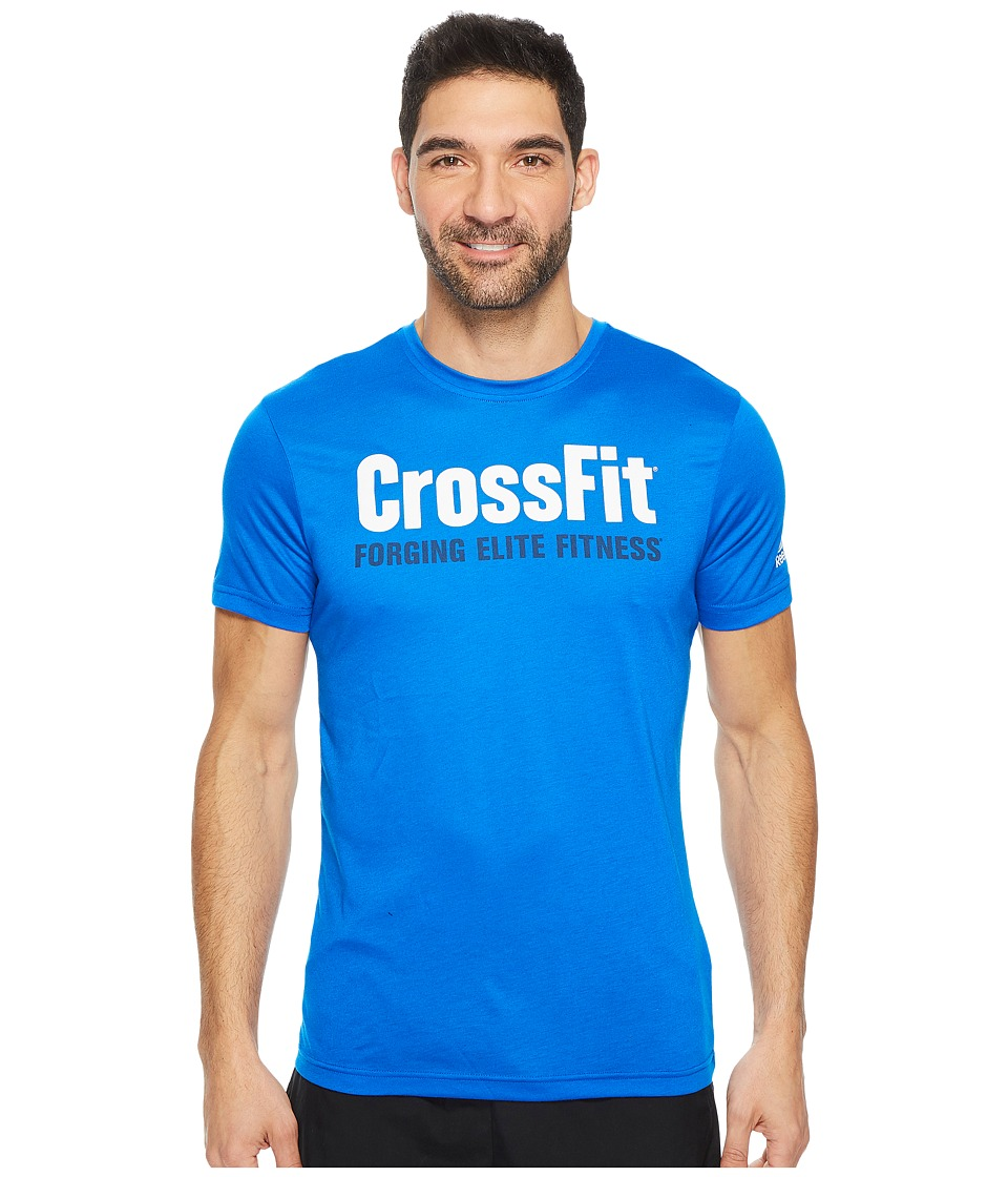 Reebok - CrossFit(r) Forging Elite Fitness Tee (Vital Blue) Men's T Shirt