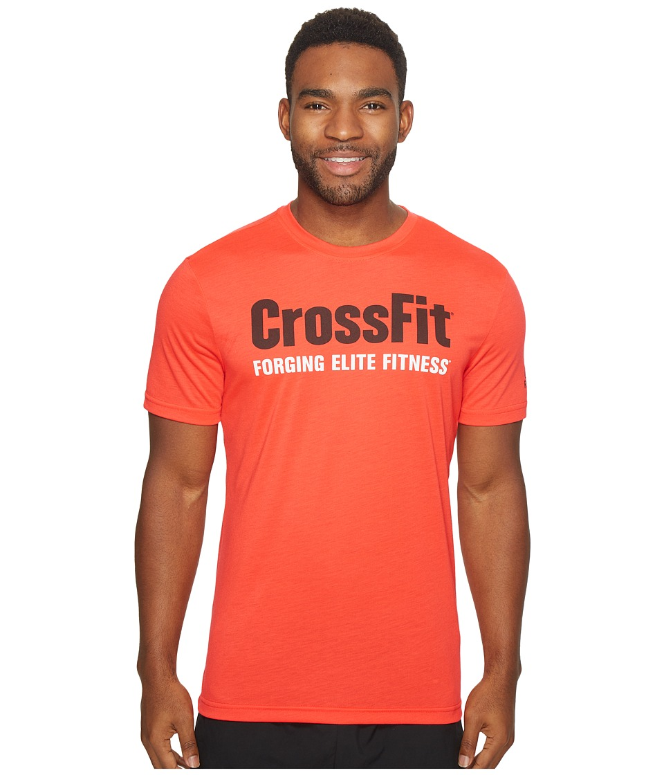 Reebok - CrossFit(r) Forging Elite Fitness Tee (Glow Red) Men's T Shirt