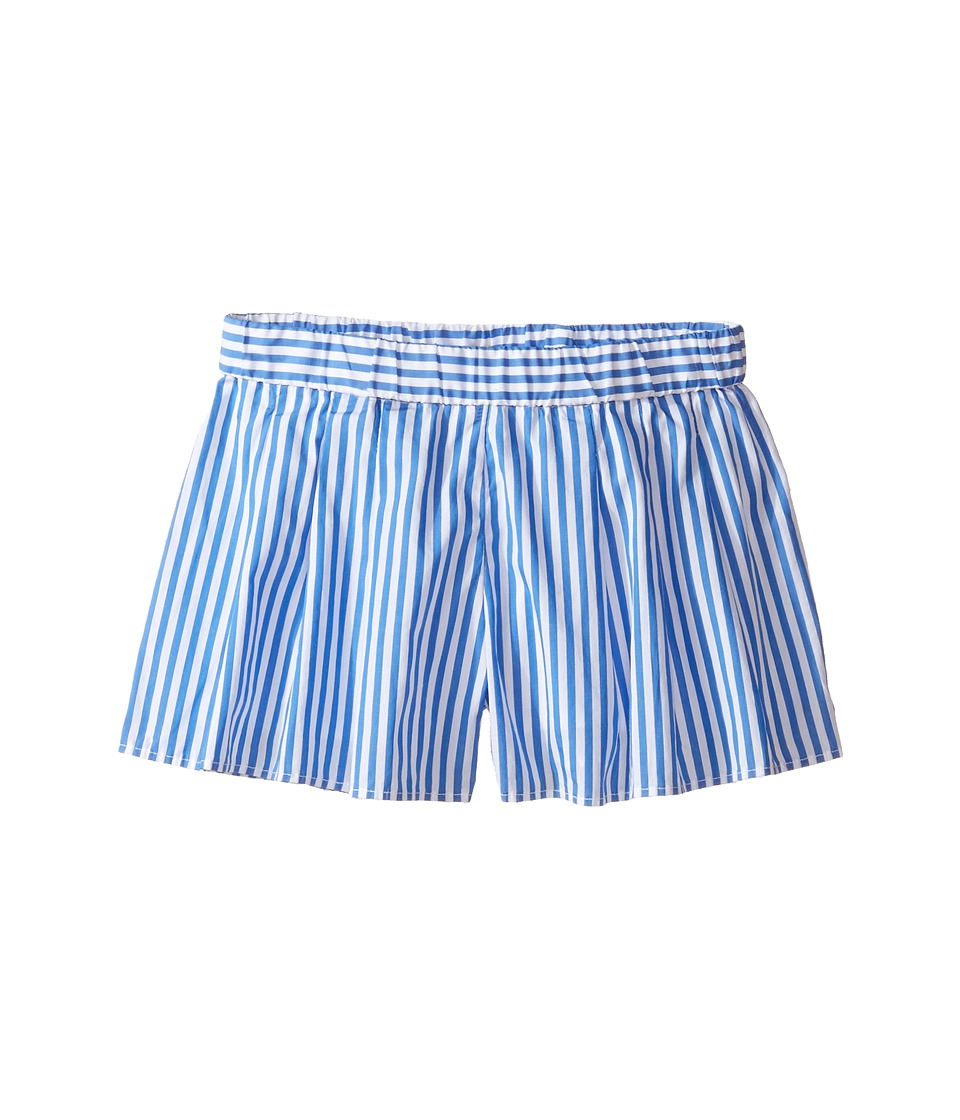 Polo Ralph Lauren Kids - Yarn-Dyed Bengal Stripe Shorts (Toddler) (Blue/White) Girl's Shorts