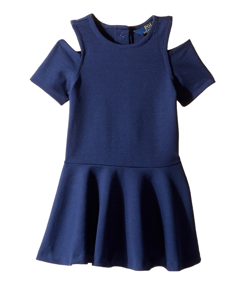 Polo Ralph Lauren Kids - Ponte Solid Ponte Dress (Toddler) (Spring Navy) Girl's Dress