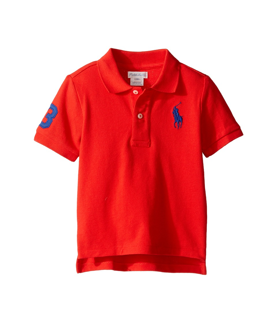 Ralph Lauren Baby - Short Sleeve Big Pony Top (Infant) (Champion Red) Boy's Short Sleeve Knit