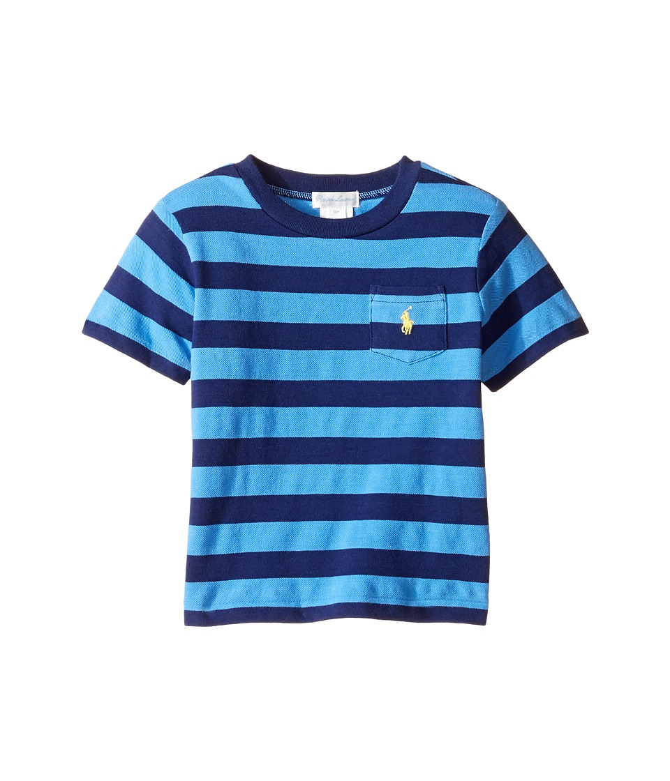 Ralph Lauren Baby - Short Sleeve Pocket Tee (Infant) (Riviera/Blue Multi) Boy's T Shirt