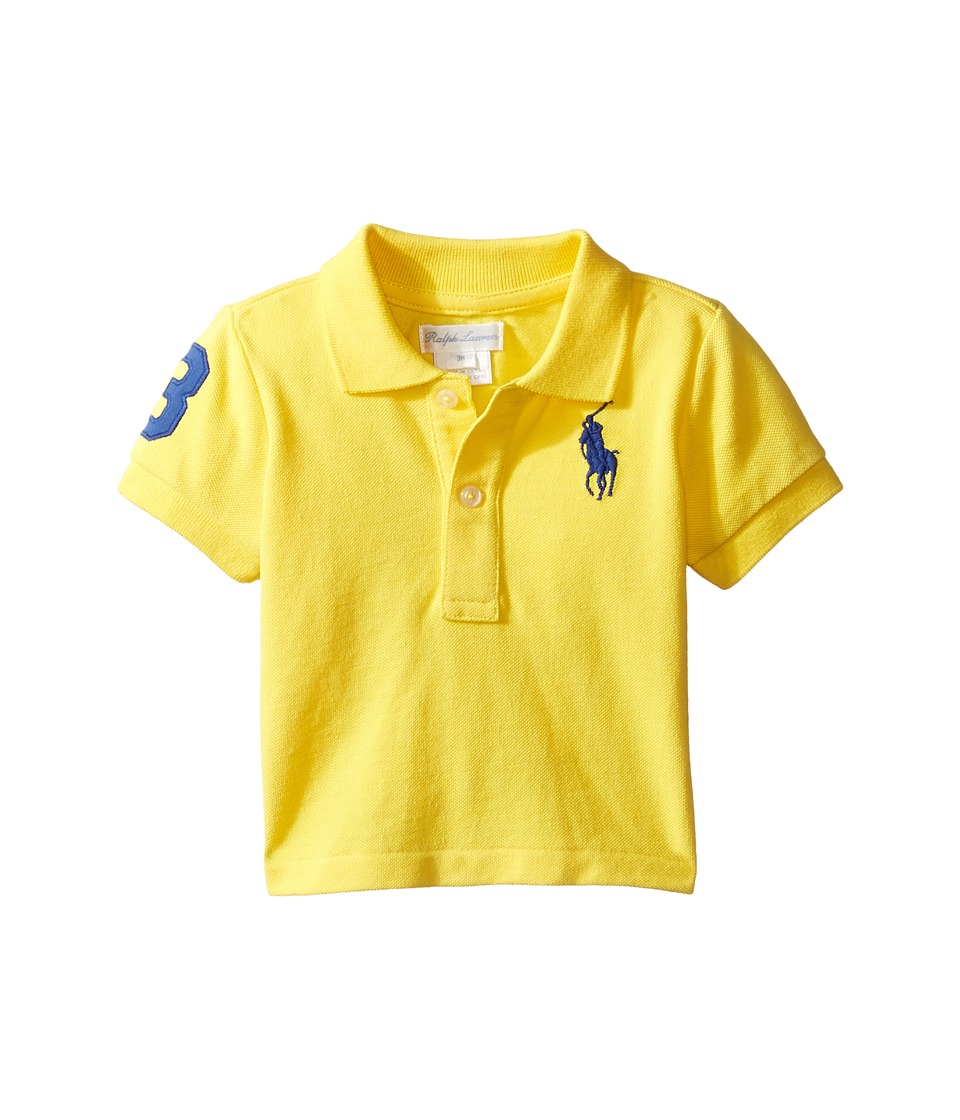 Ralph Lauren Baby - Short Sleeve Big Pony Top (Infant) (Tournament Yellow) Boy's Short Sleeve Knit