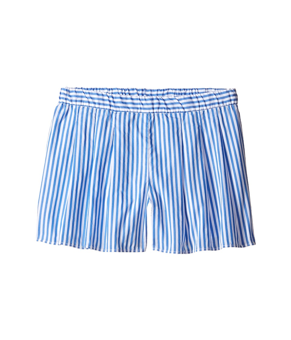 Polo Ralph Lauren Kids - Yarn-Dyed Bengal Stripe Shorts (Little Kids) (Blue/White) Girl's Shorts
