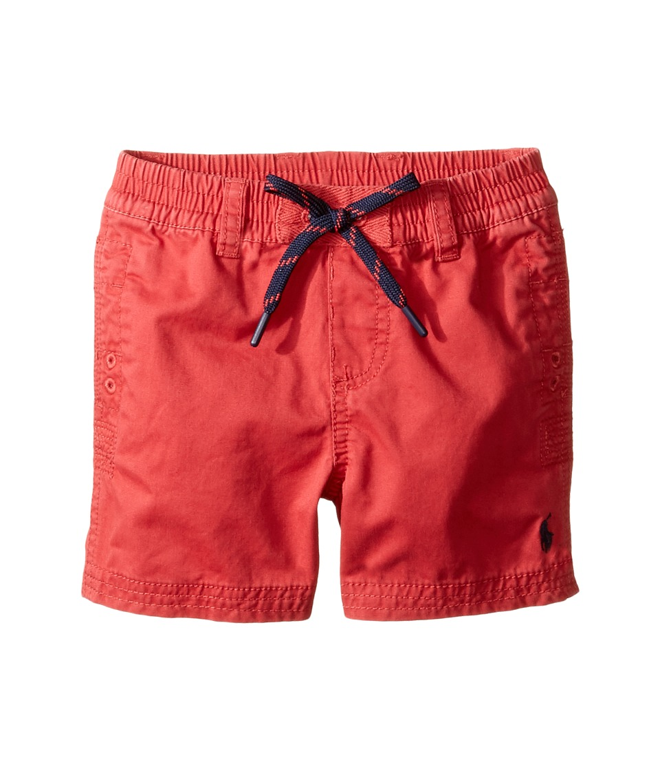 Ralph Lauren Baby - Broken Twill Relaxed Shorts (Infant) (Spring Red) Boy's Shorts