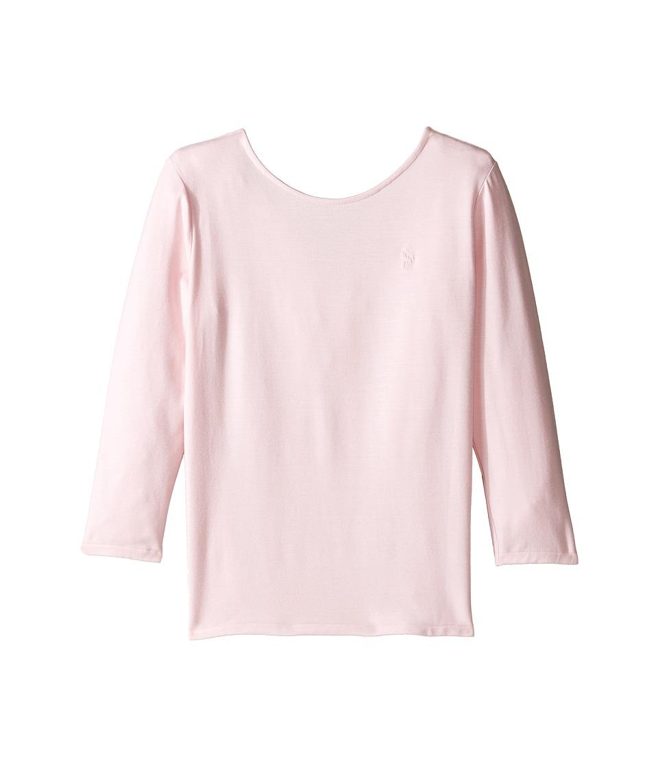 Polo Ralph Lauren Kids - Cotton Scoop Knit Top (Little Kids/Big Kids) (Hint Of Pink) Girl's Clothing