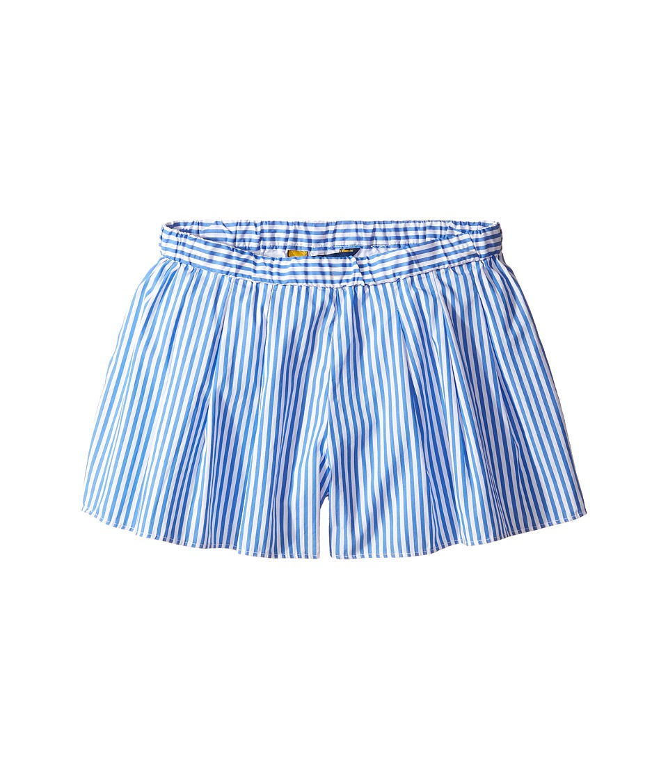 Polo Ralph Lauren Kids - Yarn-Dyed Bengal Stripe Shorts (Little Kids/Big Kids) (Blue/White) Girl's Shorts