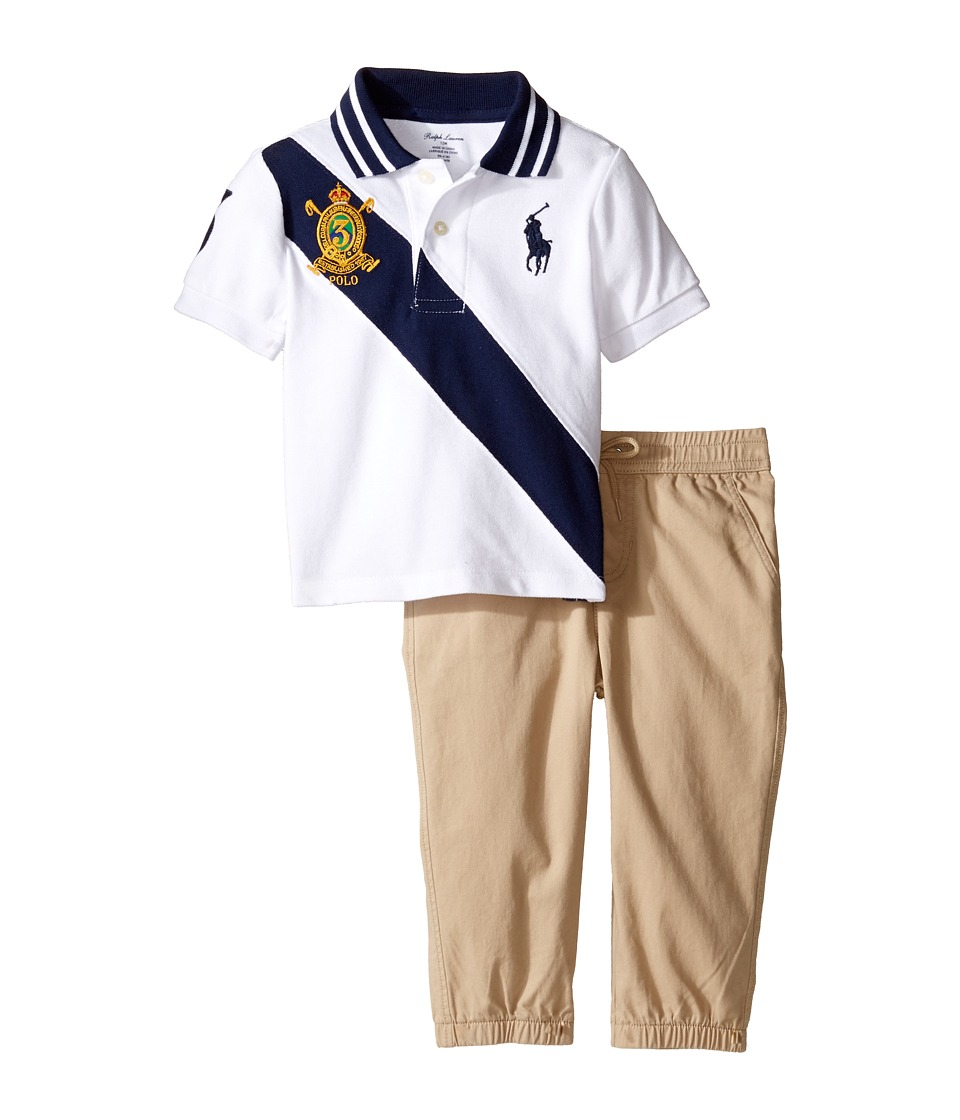 Ralph Lauren Baby - Basic Mesh Jogger Pants Set (Infant) (Coastal Beige) Boy's Active Sets