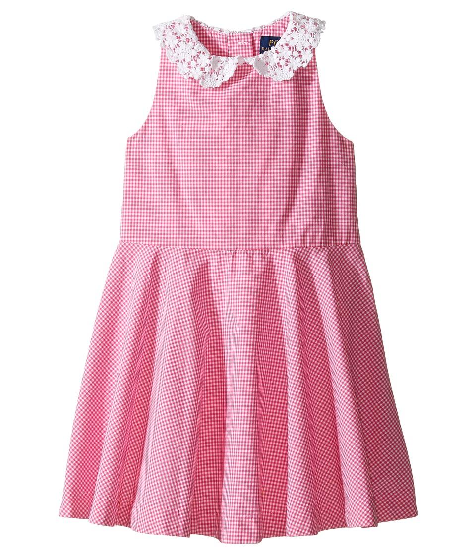 Polo Ralph Lauren Kids - Poplin Gingham Dress (Toddler) (Pink/White) Girl's Dress