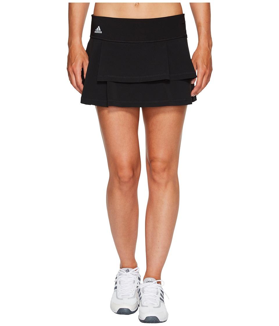 adidas Advantage Layered Skirt (Black/Clear Onix) Women