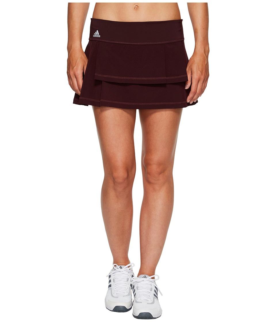 adidas Advantage Layered Skirt (Dark Burgundy/Clear Onix) Women