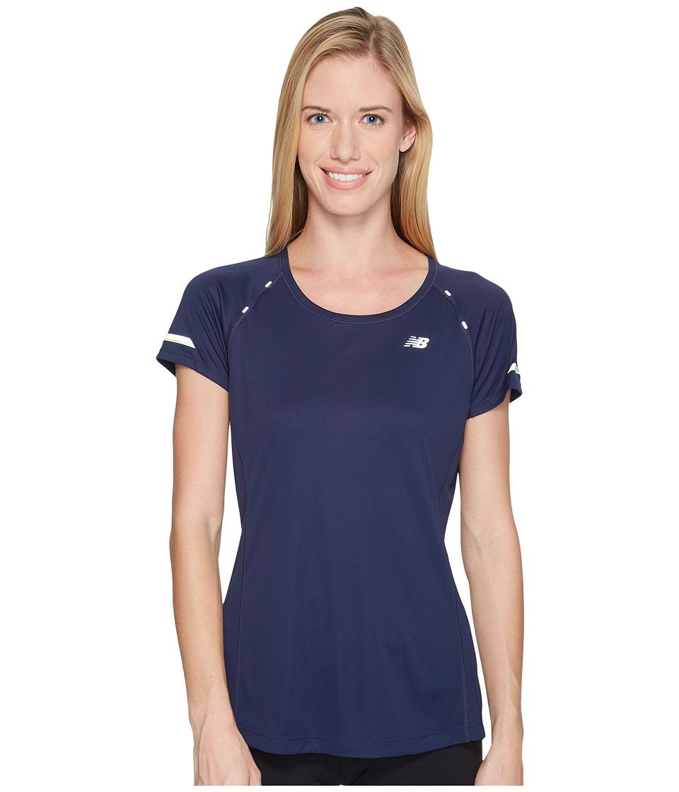 New Balance - NB Ice Short Sleeve Shirt (Pigment) Women's Short Sleeve Pullover