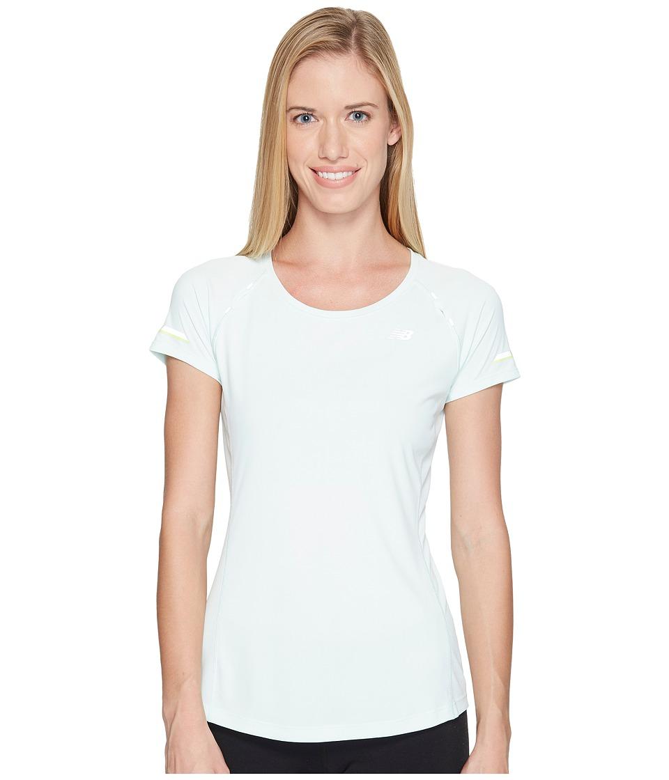 New Balance - NB Ice Short Sleeve Shirt (Water Vapor) Women's Short Sleeve Pullover