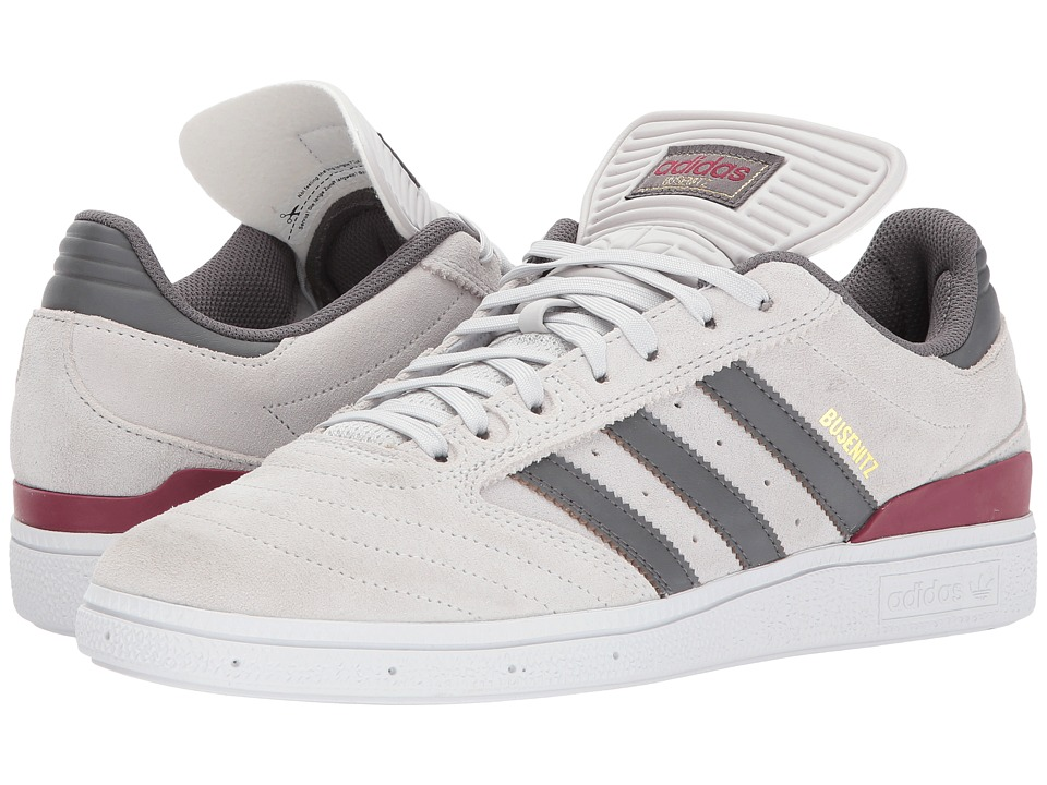 adidas Skateboarding - Busenitz Pro (Grey One/Collegiate Burgundy) Men's Skate Shoes