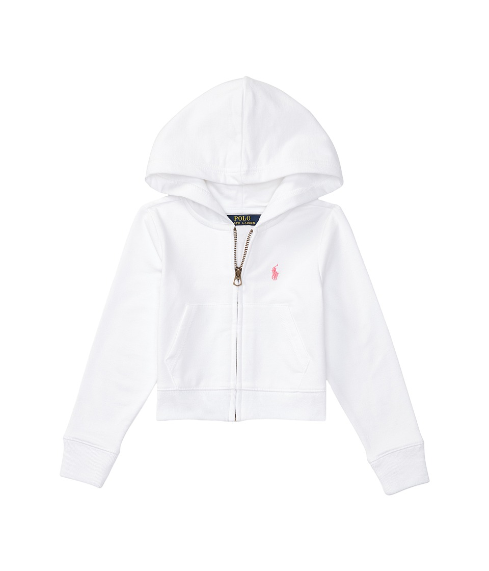Polo Ralph Lauren Kids - Terry Zip-Up Hoodie (Toddler) (White) Girl's Sweatshirt