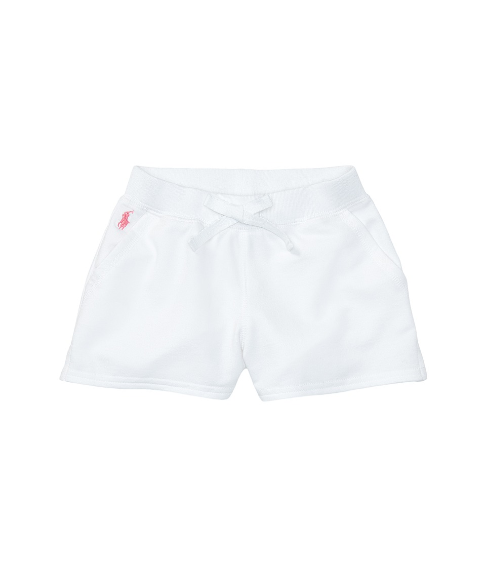 Polo Ralph Lauren Kids - Terry Solid Shorts (Toddler) (White) Girl's Shorts