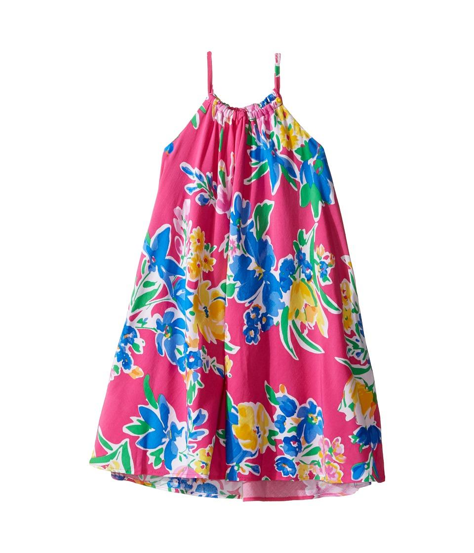 Polo Ralph Lauren Kids - Floral Halter Dress (Toddler) (Magenta Multi) Girl's Dress