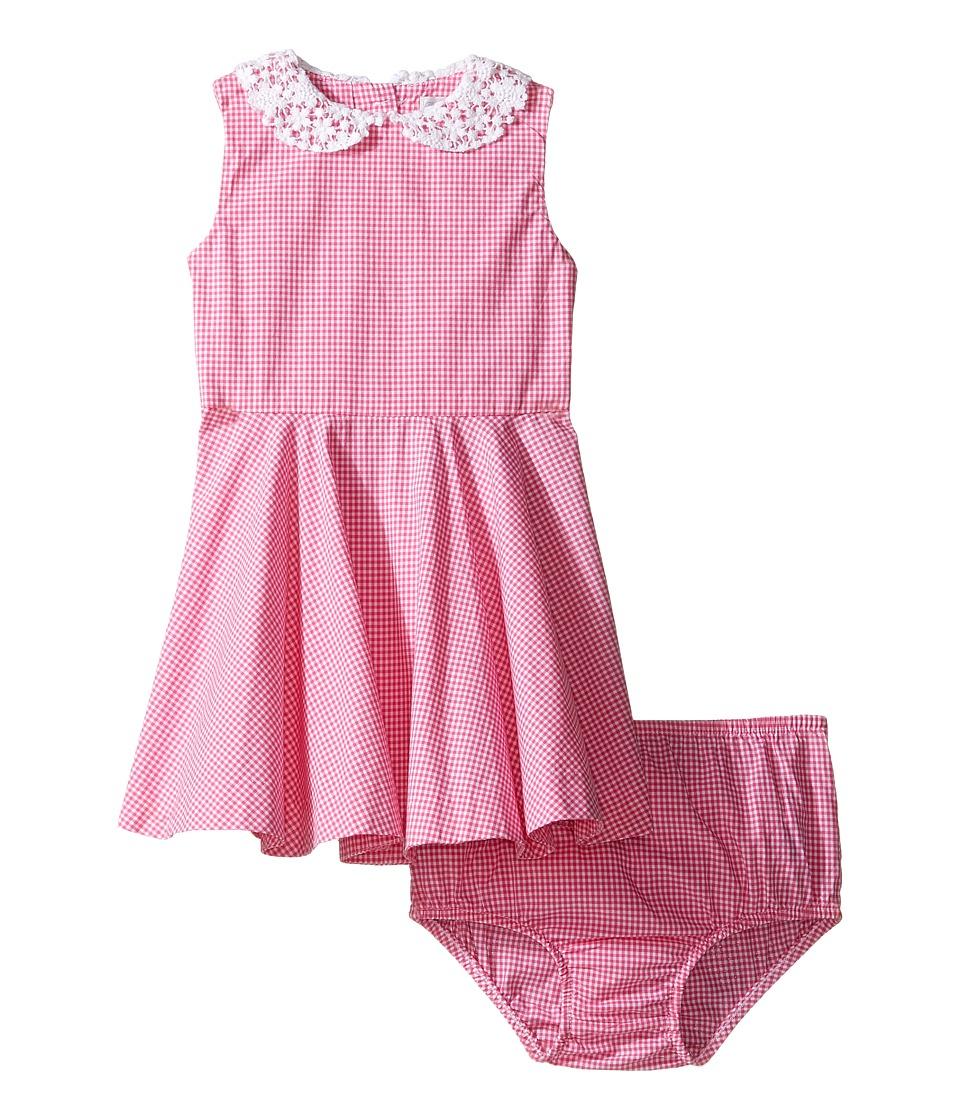 Ralph Lauren Baby - Poplin Gingham Dress (Infant) (Pink/White) Girl's Dress
