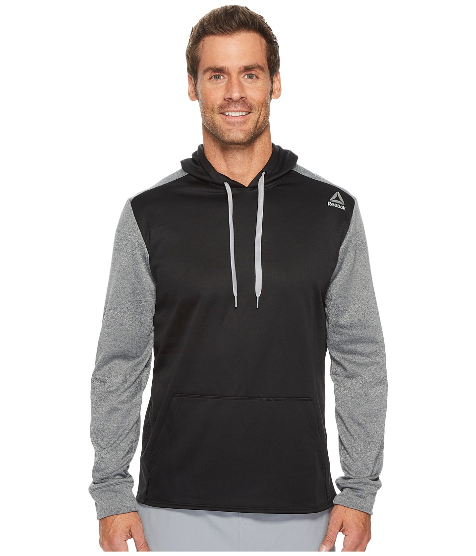 Reebok - Fleece Hoodie (Black/Dark Grey Heather) Men's Fleece