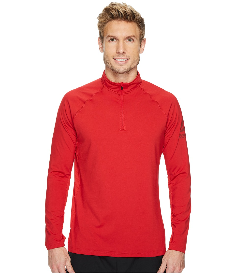 Reebok - Poly Blend 1/4 Zip (Excellent Red) Men's Workout