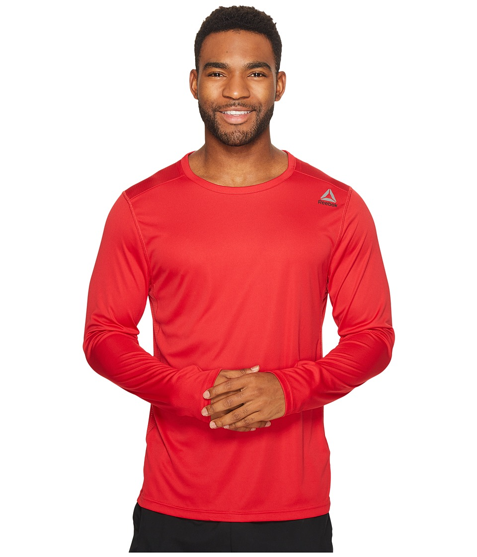 Reebok - Speedwick Tech Long Sleeve Tee (Excellent Red) Men's Workout