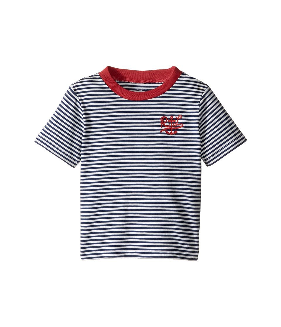 Ralph Lauren Baby - 30/1 Jersey Stripe Tee (Infant) (Fresco Blue) Boy's T Shirt