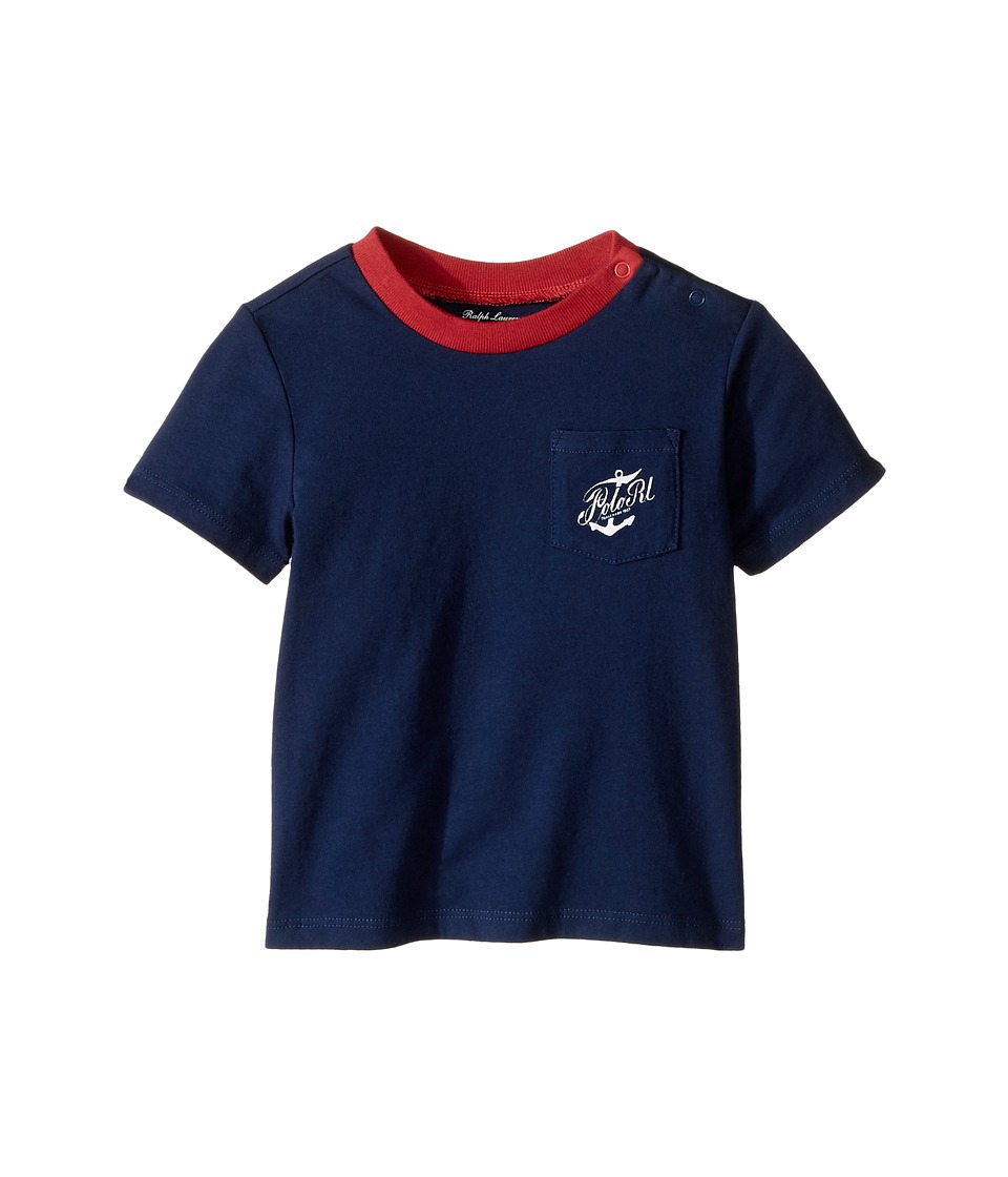 Ralph Lauren Baby - 30/1 Jersey Graphic Knit Tee (Infant) (Fresco Blue) Boy's T Shirt