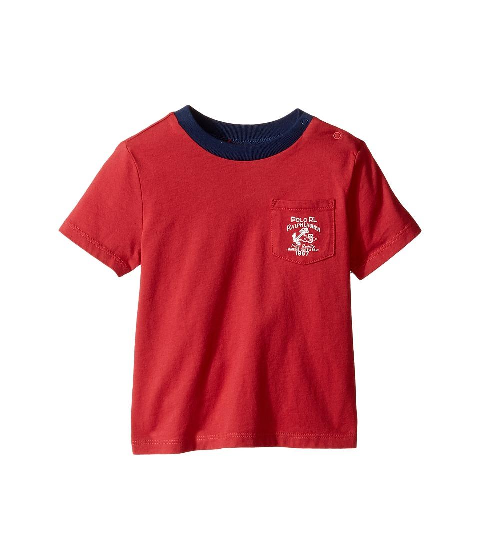 Ralph Lauren Baby - 30/1 Jersey Graphic Knit Tee (Infant) (Sedona Orange) Boy's T Shirt