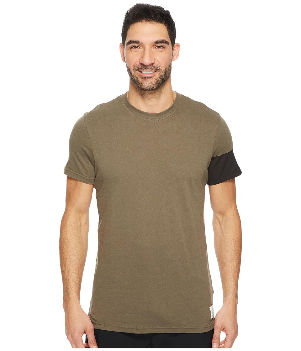 Reebok - Cotton Series Graphic Tee (Army Green) Men's T Shirt