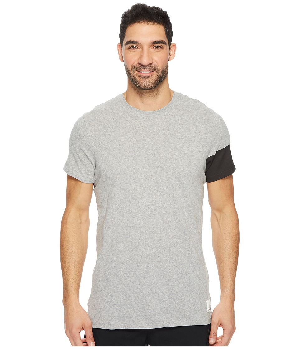 Reebok - Cotton Series Graphic Tee (Medium Grey Heather) Men's T Shirt