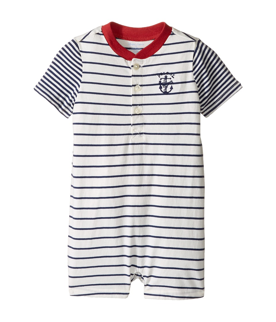 Ralph Lauren Baby - 30/1 Jersey Shortalls (Infant) (Fresco Blue/Nevis) Boy's Overalls One Piece