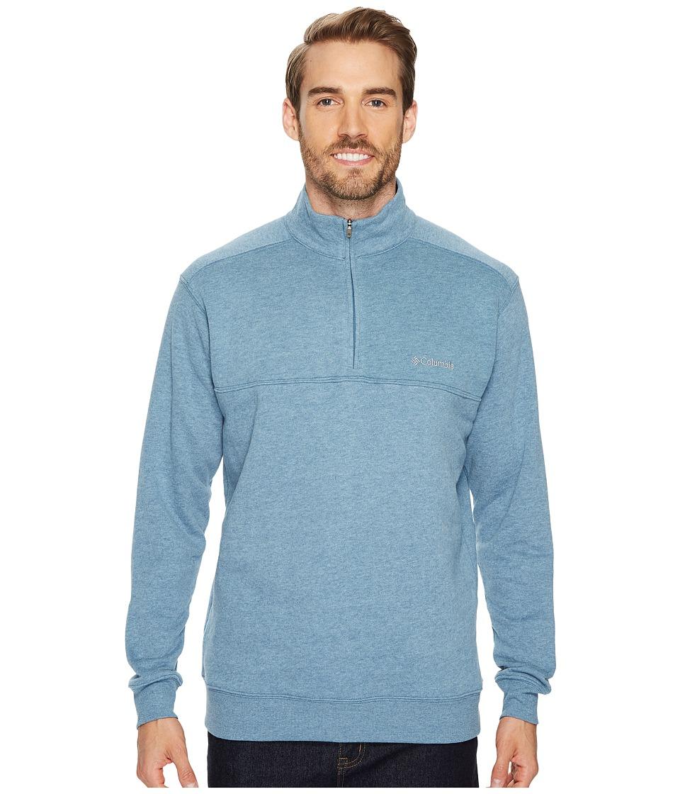 Columbia - Hart Mountaintm II Half Zip (Blue Heron Heather) Men's Long Sleeve Pullover
