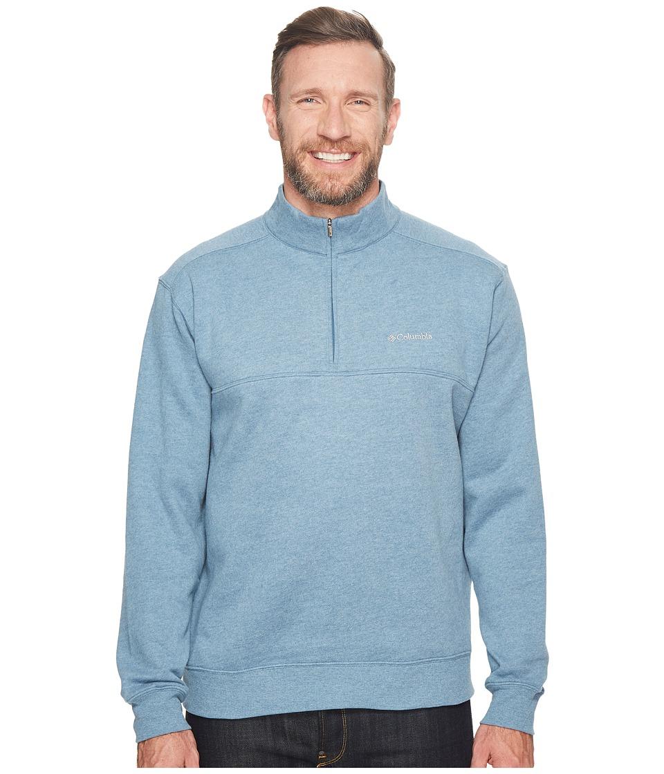 Columbia - Big Tall Hart Mountaintm II 1/2 Zip (Blue Heron Heather) Men's Long Sleeve Pullover