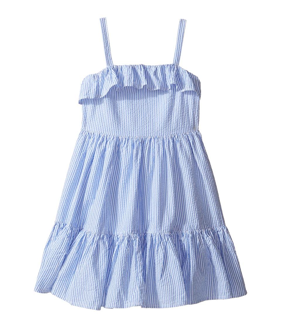 Polo Ralph Lauren Kids - Seersucker Dress (Little Kids) (Blue/White) Girl's Dress