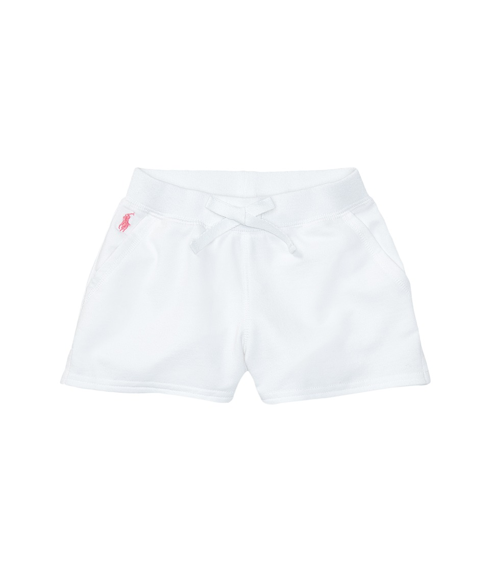 Polo Ralph Lauren Kids - Terry Solid Shorts (Little Kids) (White) Girl's Shorts