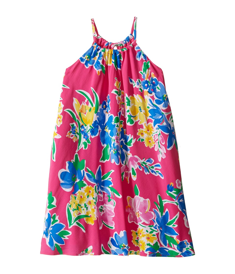 Polo Ralph Lauren Kids - Floral Halter Dress (Little Kids) (Magenta Multi) Girl's Dress