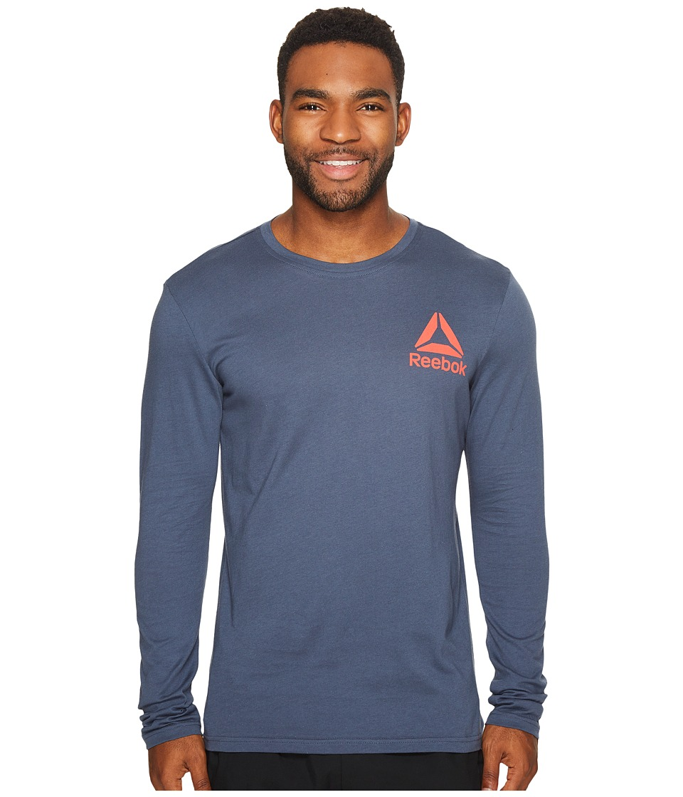 Reebok - Long Sleeve Tee 2 (Smoky Indigo) Men's Workout