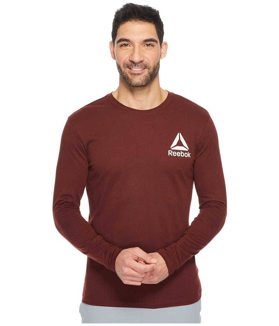 Reebok - Long Sleeve Tee 2 (Burnt Sienna) Men's Workout