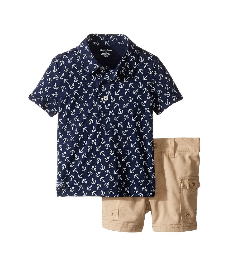 Ralph Lauren Baby - Printed Jersey Anchor Shorts Set (Infant) (French Navy Multi) Boy's Active Sets