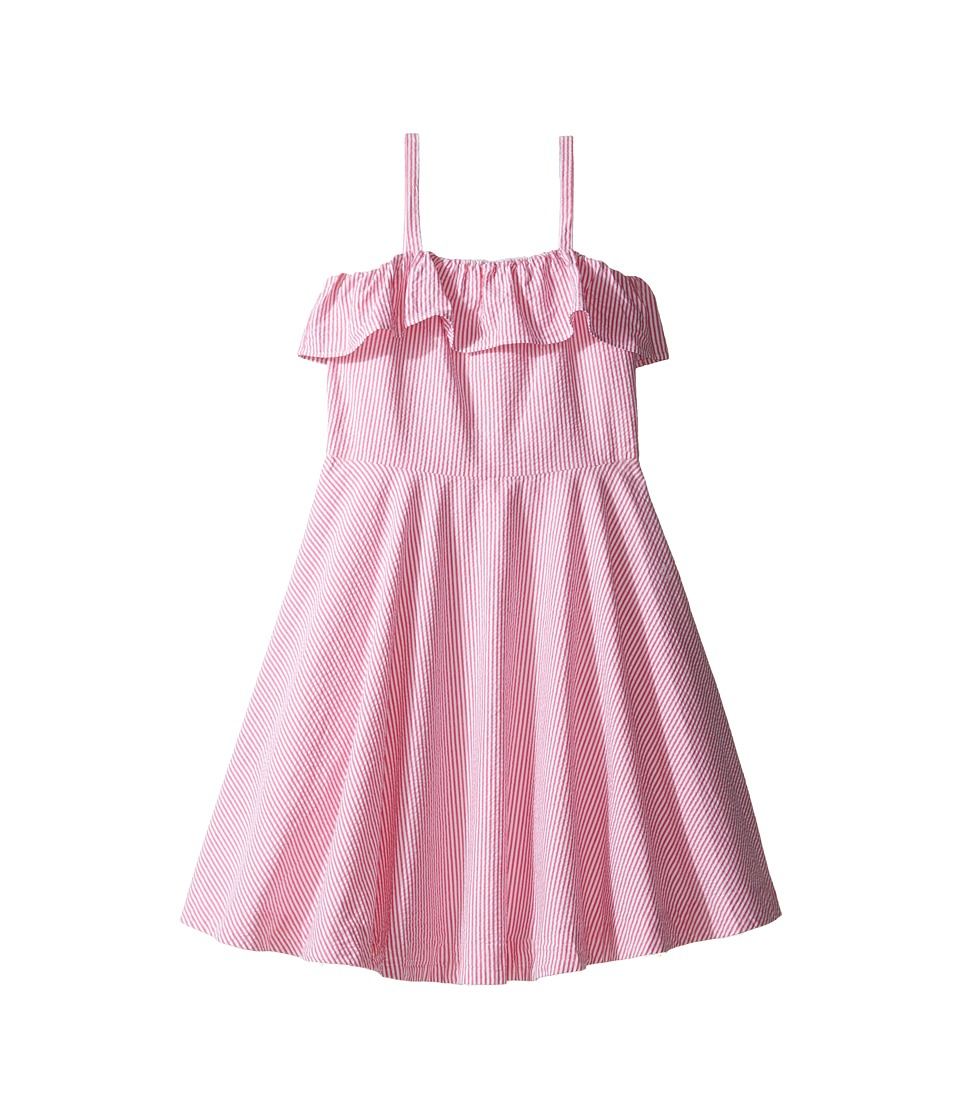 Polo Ralph Lauren Kids - Seersucker Dress (Big Kids) (Pink/White) Girl's Dress