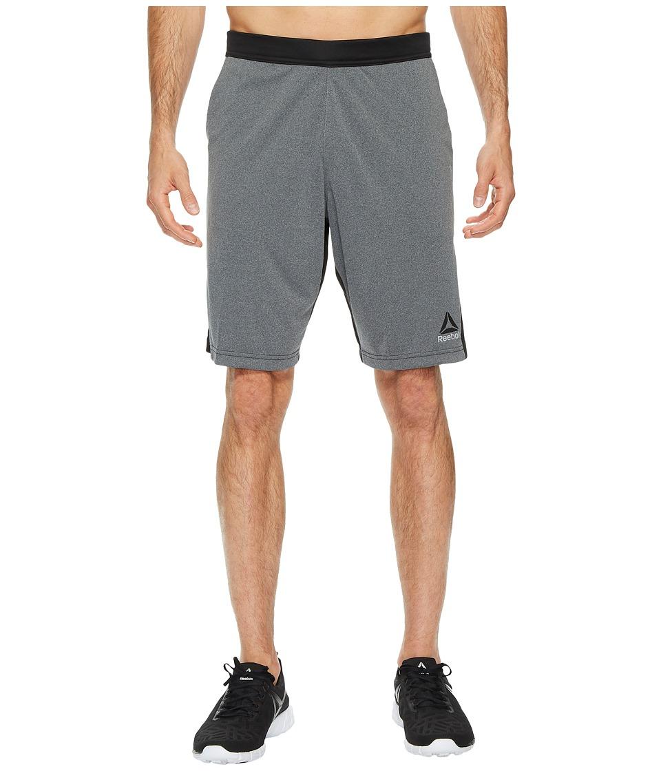 Reebok - Speedwick Knit Shorts (Dark Grey Heather) Men's Shorts
