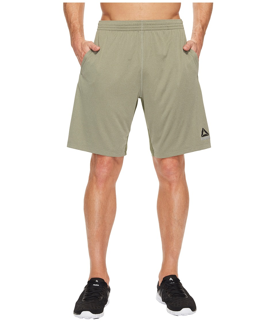 Reebok Poly Blend Shorts (Hunter Green) Men